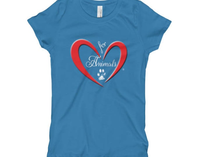 Heart of Love for Animals - Girl's T-Shirt