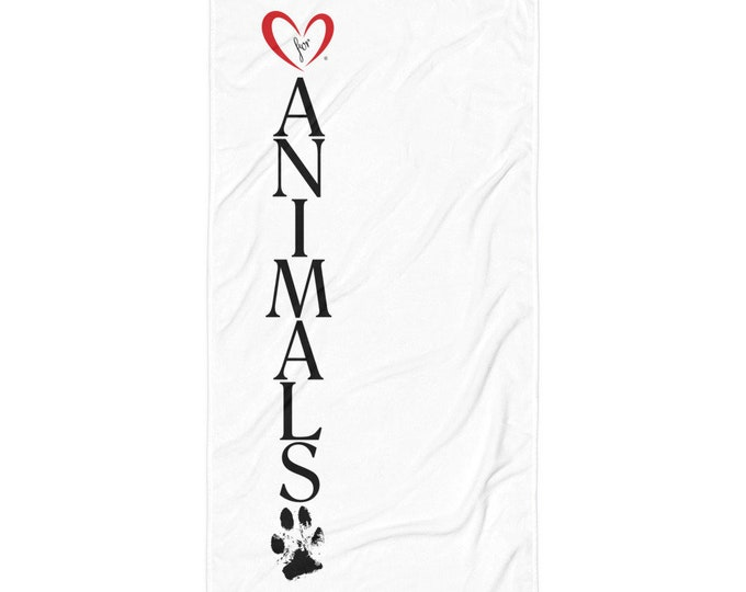 Heart of Love for Animals - Towel