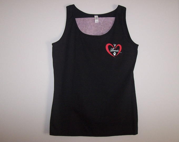 Heart of Love for Animals - Ladies Tank Top - Size L