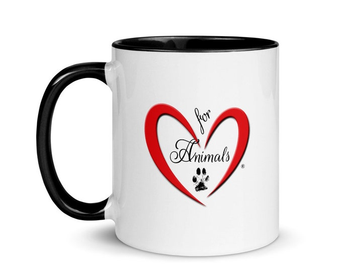Heart of Love for Animals - 'Rescue Dad' Mug with Color Inside