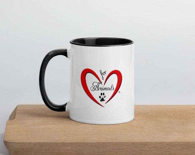 Heart of Love for Animals - 'Rescue Mom' Mug with Color Inside