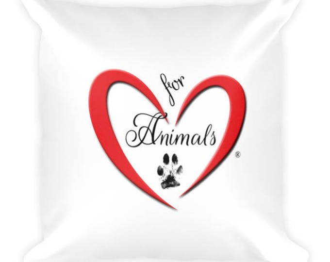 Heart of Love for Animals - Square Pillow