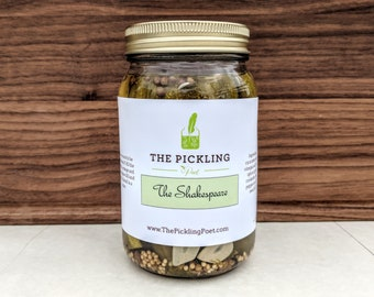 Homemade Dill Pickles   Gifts for Poets   Pickled Cucumbers   The Pickling Poet   The Shakespeare   Gifts for Writers   Pickles and Poetry