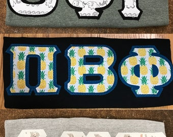 Cotton Twill Letters on T-Shirt