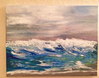 Acrylic Ocean Wave Painting