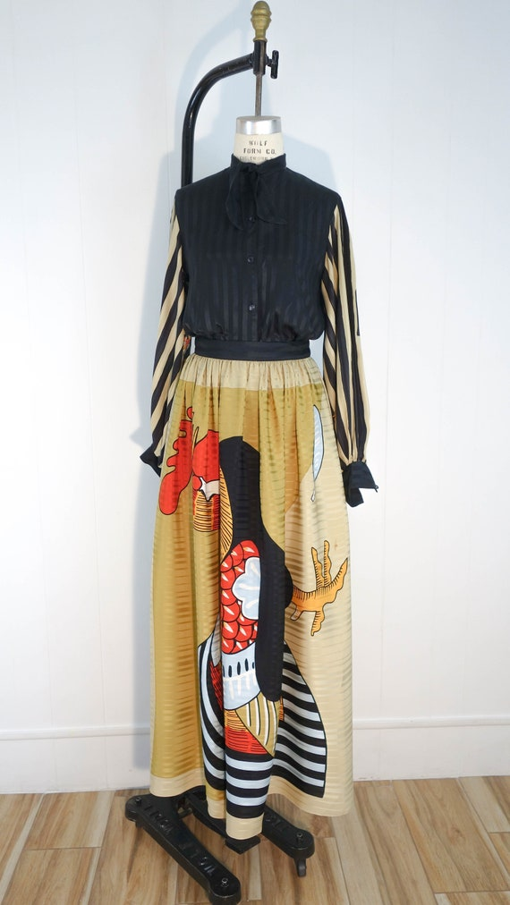 Vintage Vollbracht matching set. 100% silk, great… - image 1