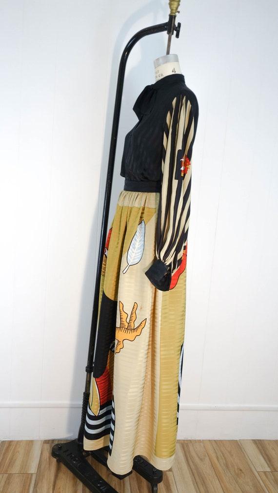 Vintage Vollbracht matching set. 100% silk, great… - image 3