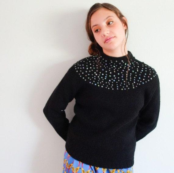 Vintage Adolfo sequin sweater