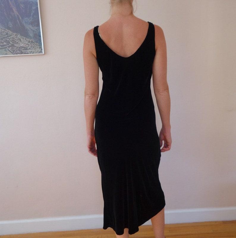 Vintage Black Velvet Dress