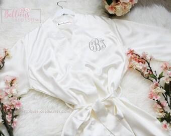 c0ff2ffc03 Monogrammed Satin Robes