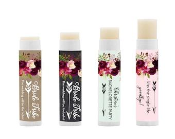 12 custom mimosa bachelorette party lip balm favors kissing the single life goodbye bridal shower lip balms wedding lip balms baby shower - Custom Lip Balm