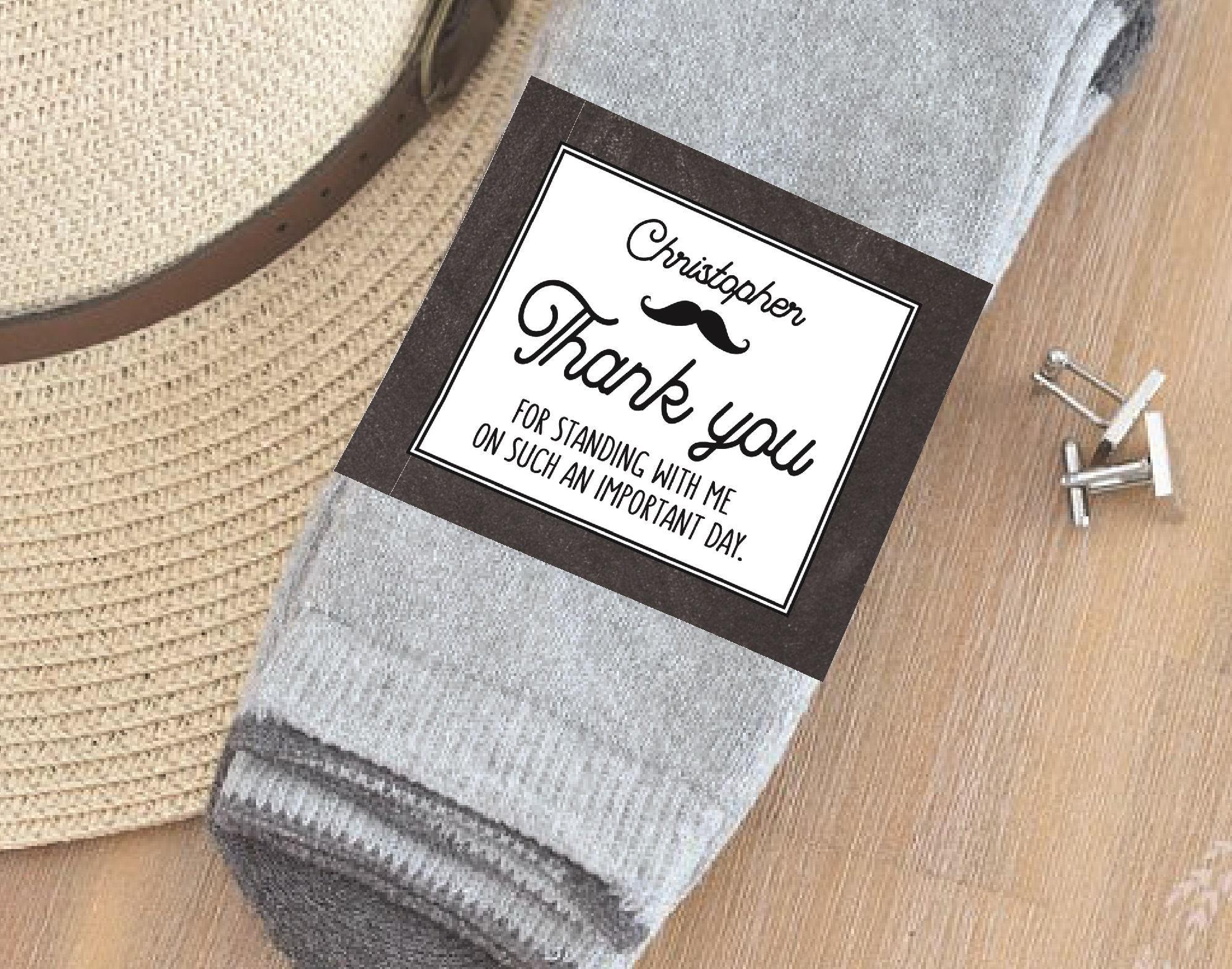 PERSONALIZED Groomsmen Sock labels PRINTABLE Groomsmen gift