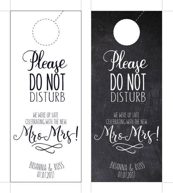 photograph regarding Do Not Disturb Sign Printable referred to as Marriage ceremony Doorway Hanger /Printable, Revealed, Do not disturb indicator, Spot Marriage, Welcome Luggage, Chalkboard resort doorway hanger marriage favors