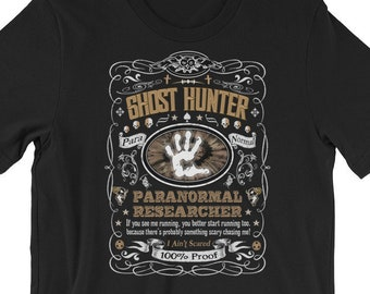 Men/'s Novelty T Shirt Keep Calm and Go Ghost Hunting Paranormal Ghost Hunter