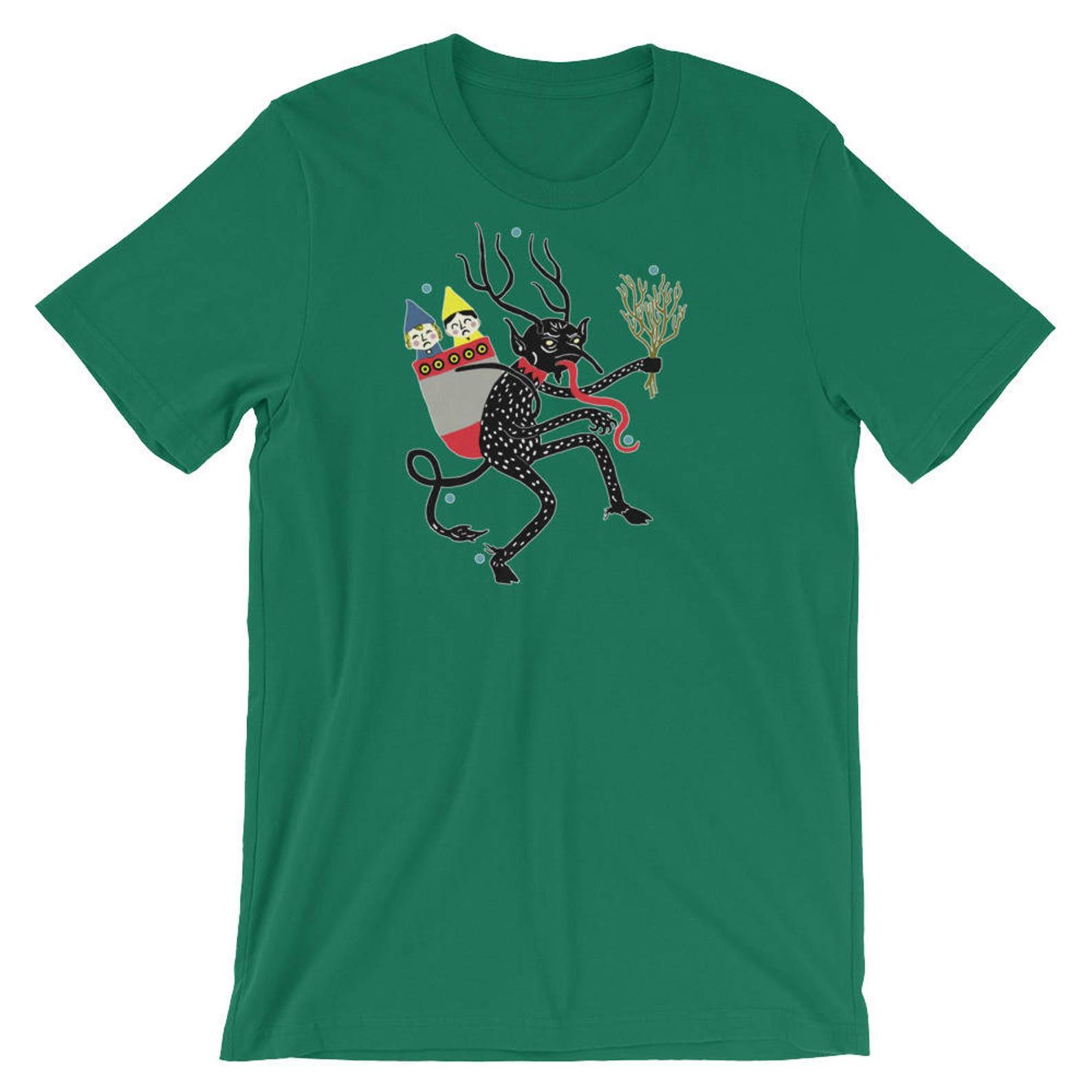 Vintage Krampus With Naughty Children Short-Sleeve Unisex T-Shirt