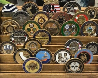 Challenge coin display | Etsy