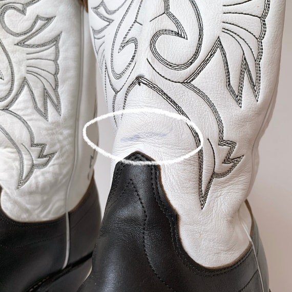 Women's vtg. tall cowboy boots, leather heeled co… - image 7