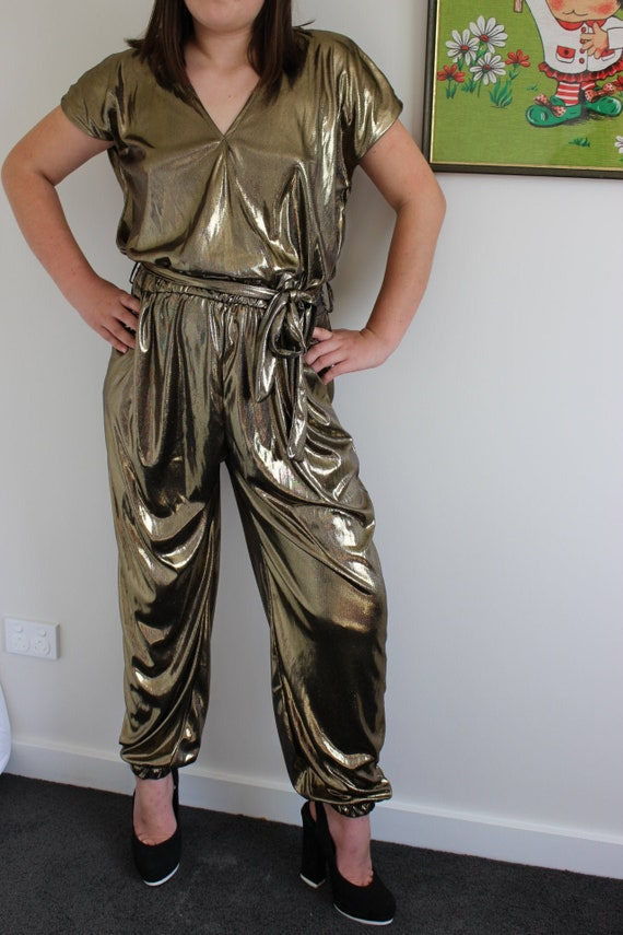 Gold Jumpsuit with Pockets