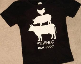 Friends not food baby toddler shirt