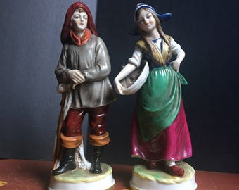 Ship Captain & Wife, Antique Figurines
