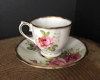 American Beauty, Royal Albert Bone China, Tea Cup & Saucer