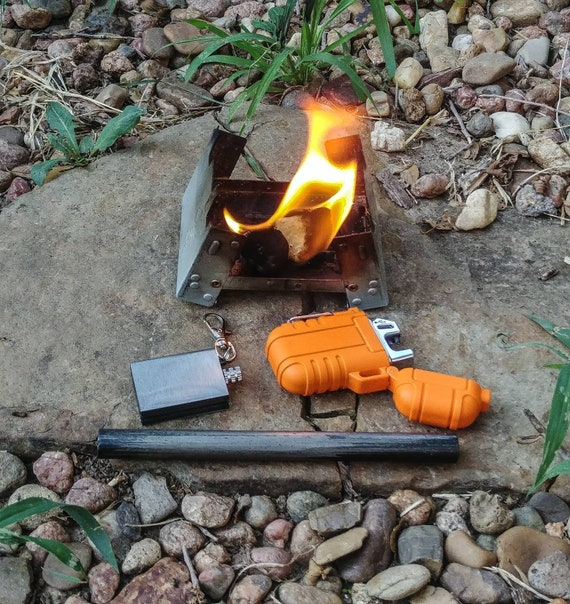 EDC Ferrocerium Fire Starter Flint USA SELLER Ferro Rod 3 Pack FREE CABLE RING