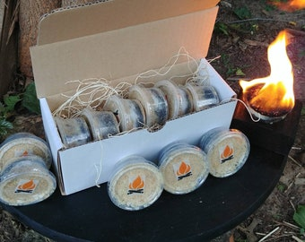 Fire Starter 6 in a pack Hand Made from Pine Wood and coal.Bushcraft, fast start with Spark or Flame.