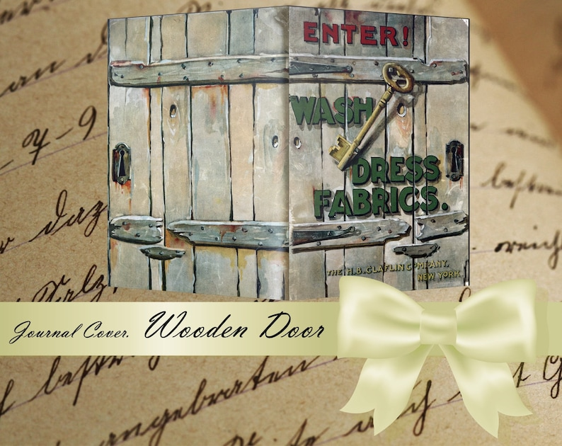 WOODEN DOOR Journal Cover printable ephemera digital page country style Enter junk journal kit blank journal cards paper journaling cards