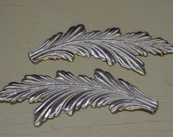 """5.5"""" long x 2""""wide set of steel leaves (left and right)"""