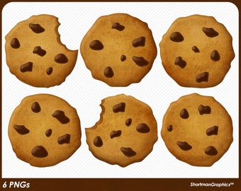 Chocolate Chip Cookie Clipart - PNG Download