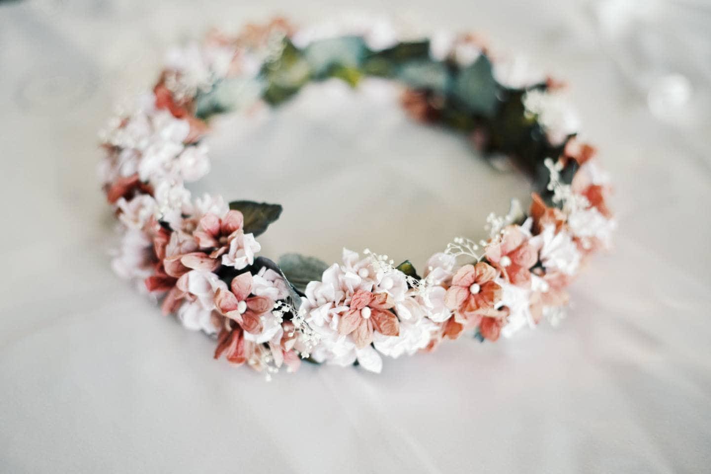 Wedding Crown Bohemian Floral Headpiece Authentic Flower Etsy