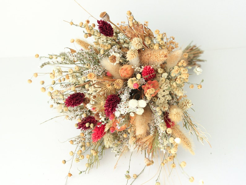 Festival Meadow Bridal bouquet  Natural flower bouquet Wedding  Rustic Boho Brides and Bridesmaid bouquet  Wildflowers Dried bouquet
