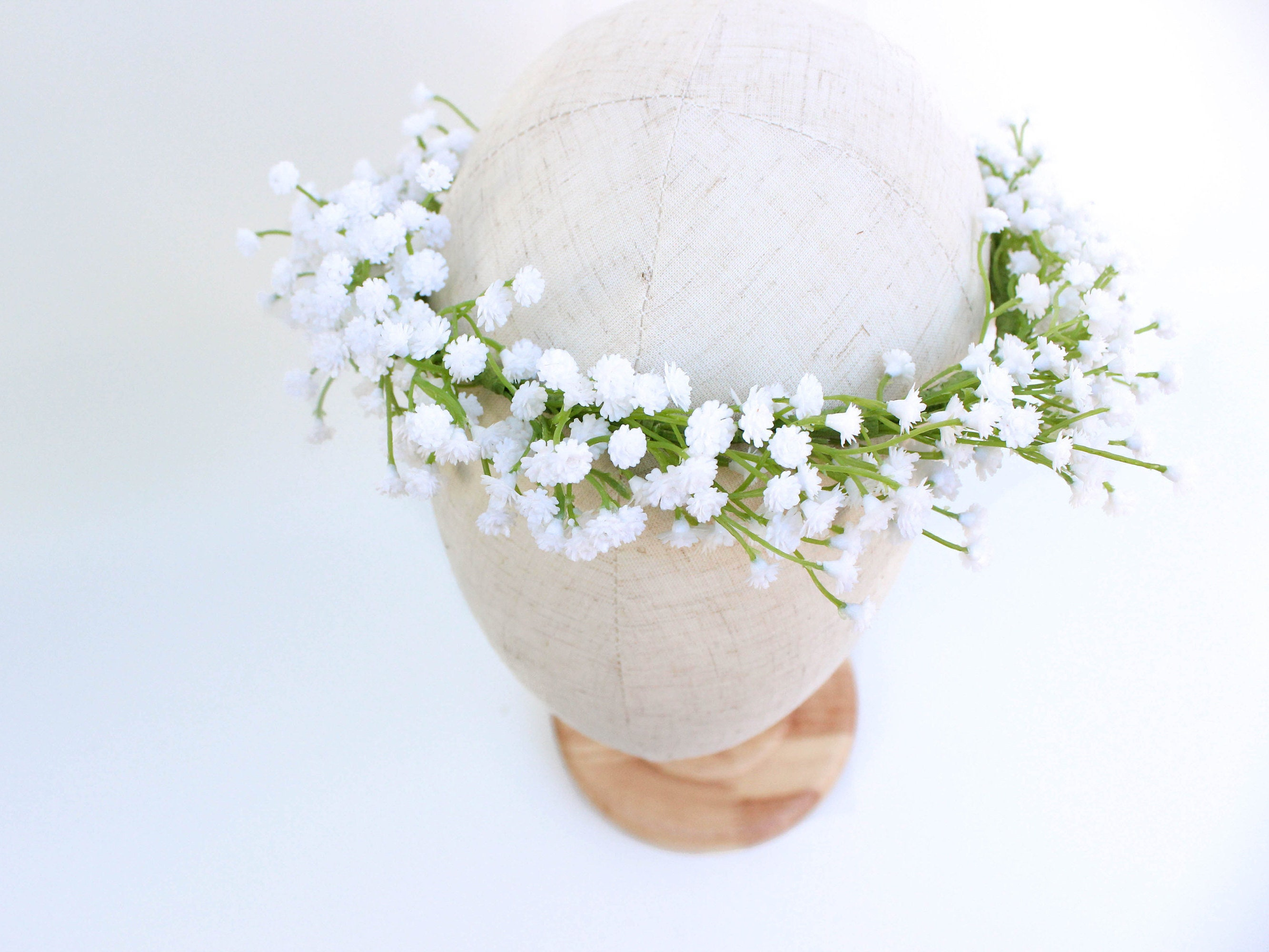 Babies Breath Flower Crown Made With Artificial Babys Breath