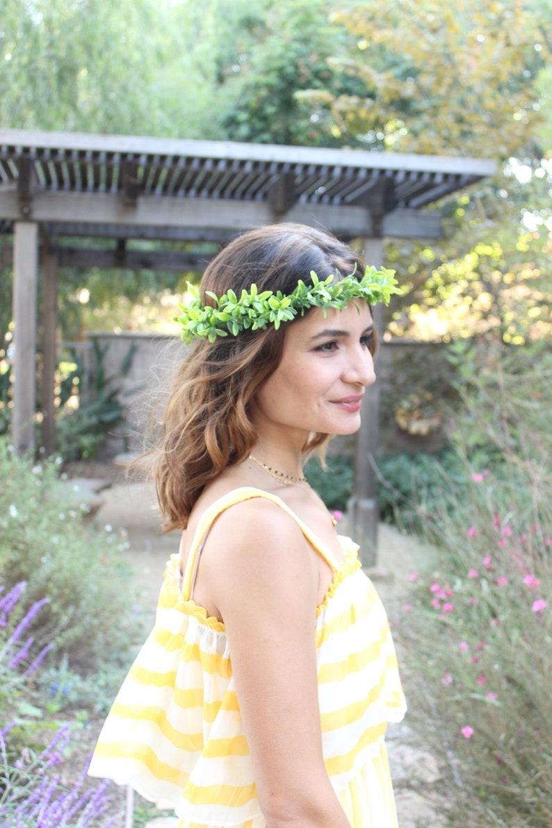 37f037d30 Flower Crown / Boho Leaf all around crown / Wedding Floral | Etsy