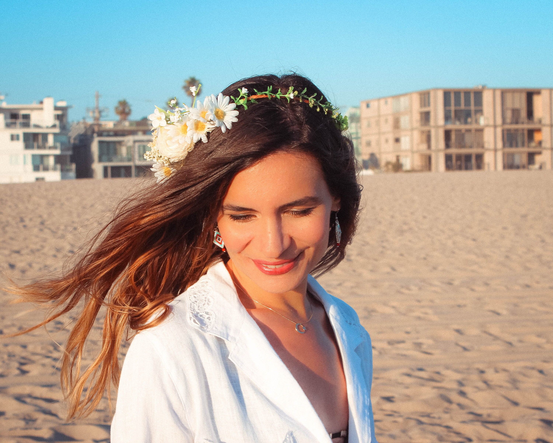 Daisy Flower Crown Babies Breath Bridal Crown White Hydrangea