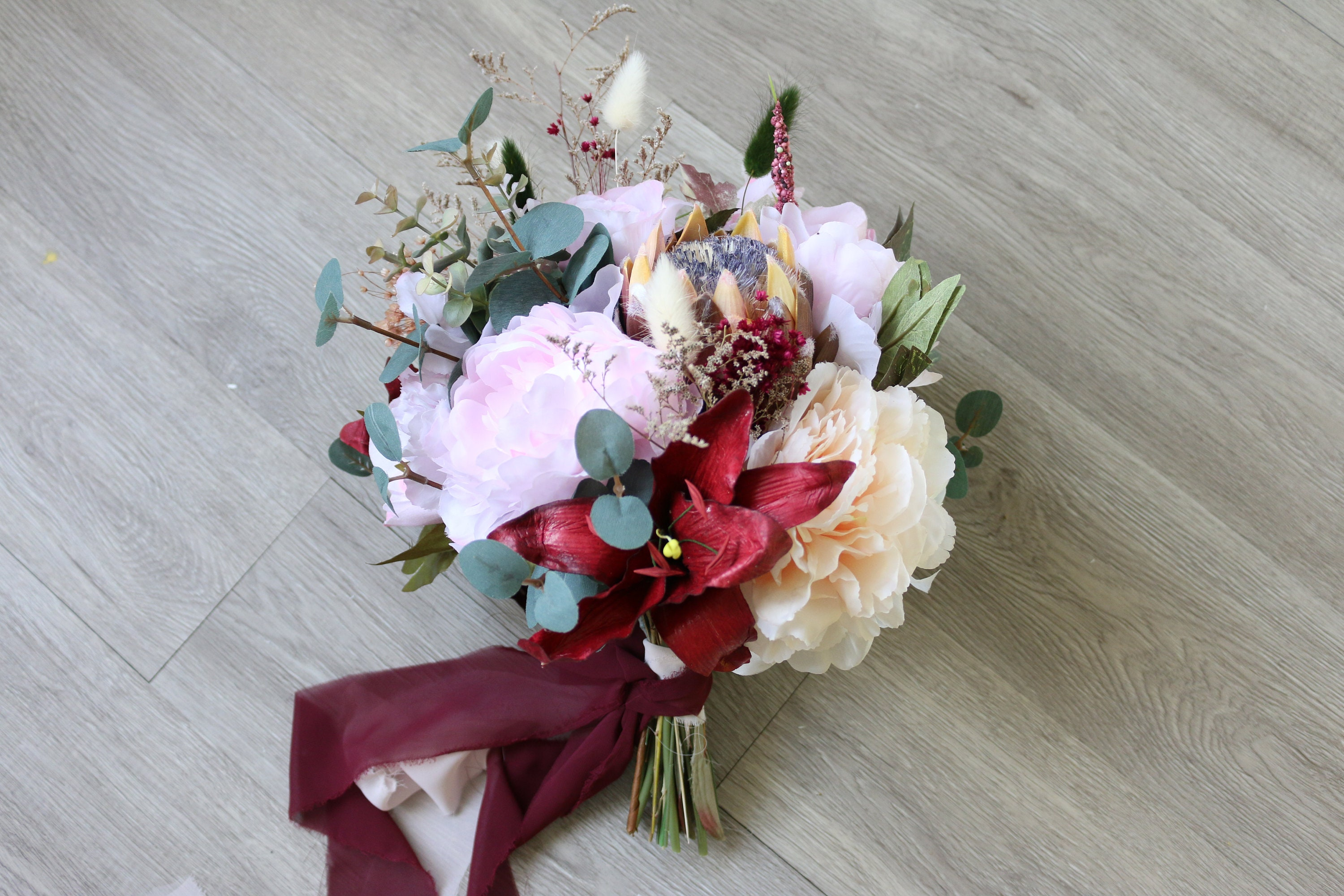 Burgundy wedding bouquet eucalyptus sage bridal bouquet faux burgundy wedding bouquet eucalyptus sage bridal bouquet faux wedding bouquet pastel brides bridesmaid bouquet izmirmasajfo