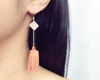 Tassel Earrings, chain drop earrings, long earrings, tassel jewelry, dangle tassel earrings, gift for her, bridesmaid gift, fall jewelry