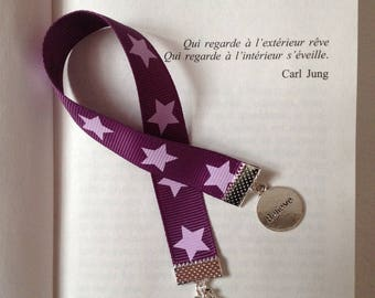 Bookmark - Believe and star fabric