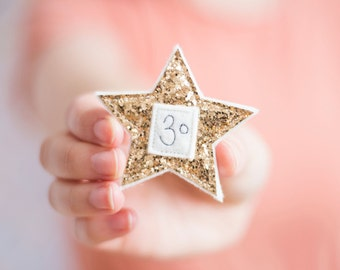 Sparkly Personalised Birthday Age Badges