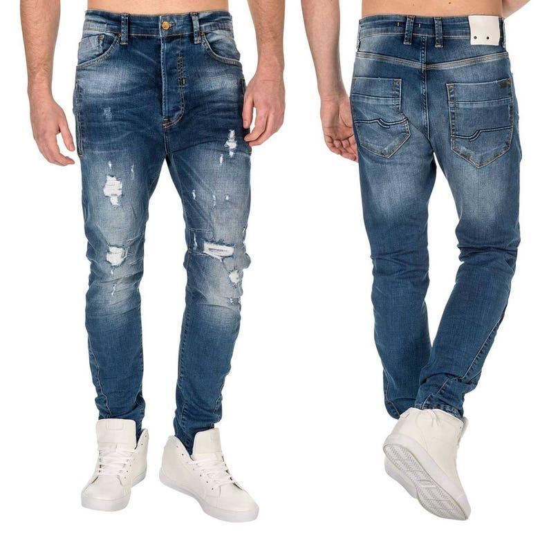 0fdb57bbf55 Herren Marken Jeans Integral 1939 Denim Slim Fit Ripped Used