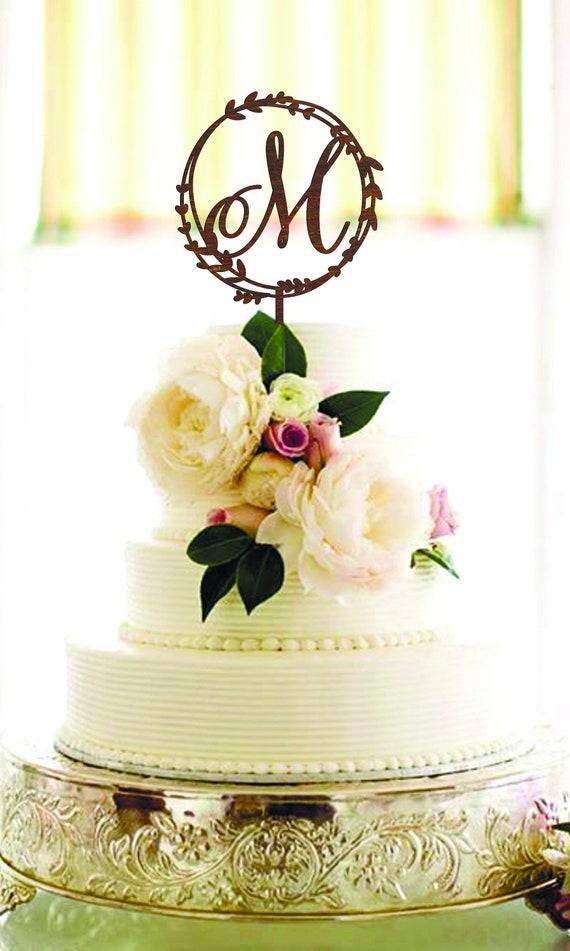 Letter M Cake Topper Wedding Cake Topper M Letter Gold | Etsy