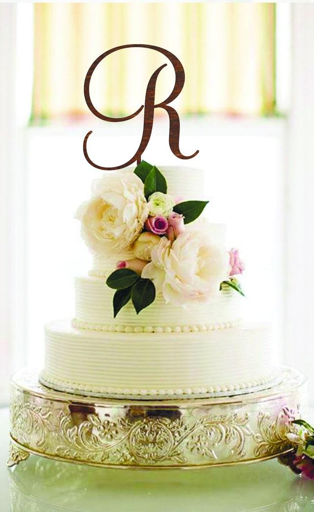 Letter R Cake Topper wedding cake topper R Initial cake topper | Etsy