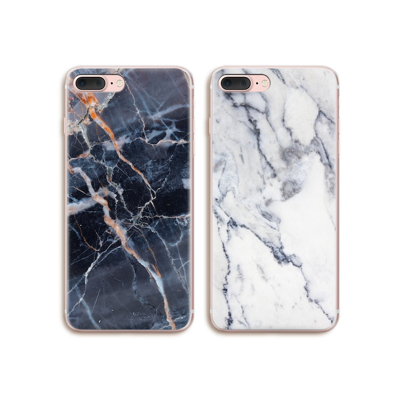 best service 6b44e 0ca42 Double Marble iPhone X Cases Dark iPhone 7 Plus Case Custom iPhone 6 Case  Galaxy S9 Case for Best Friends Cute Couple iPhone 8 Cases CF4298