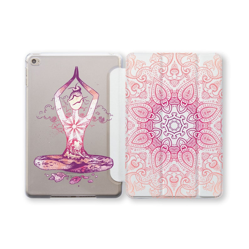 newest collection 676f9 24c64 Yoga iPad Pro 11 2018 iPad 9.7 Case iPad Stand iPad Air 3 Smart Cover Pink  Mandala 6 Gen iPad Pro 10.5 Case Pro 12.9 Case iPad Mini 5 CF4097