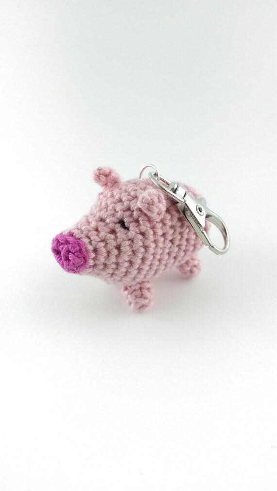 Miniature Amigurumi Pig Keychain Mini Crocheted Pig Backpack | Etsy | 1008x570