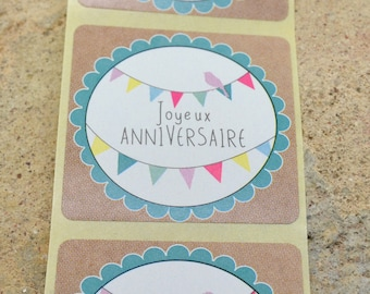 10 labels stickers decal gift birthday