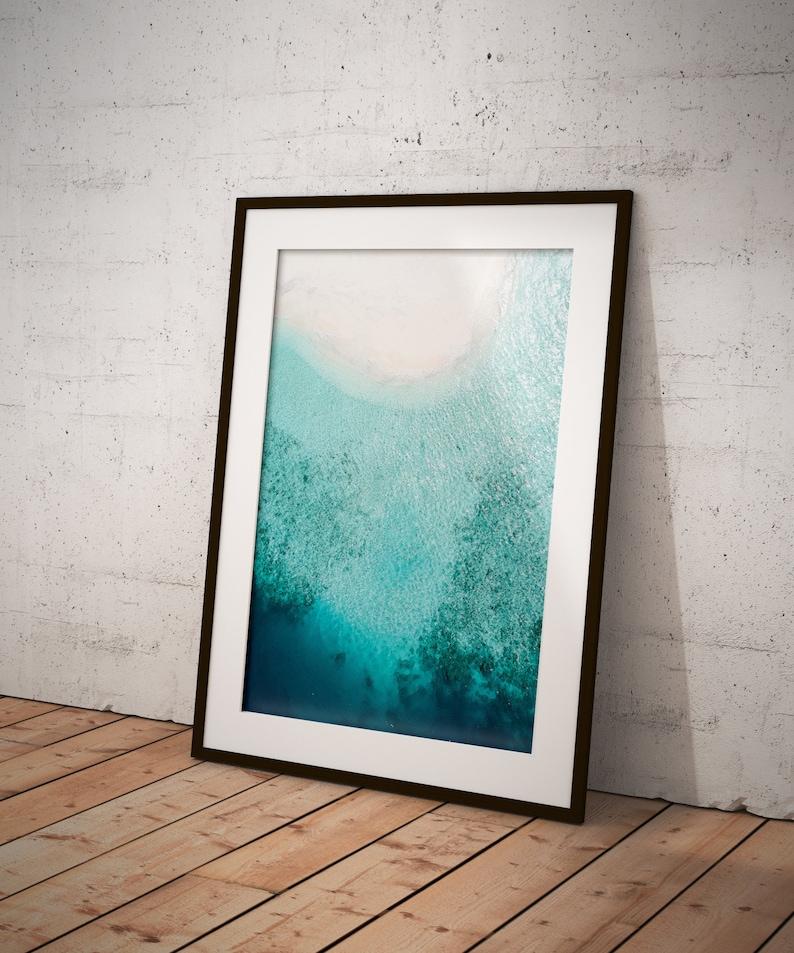 BEACH print Large Wall Art Minimalist Art Waves Print Nature Print Wall Decor Ocean Print Wall Art Tropical Art PRINTABLE ART
