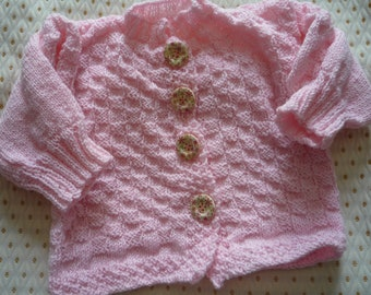 Floral vest with 4 buttons for girl