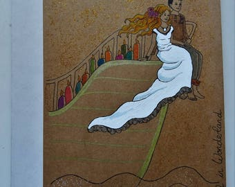 """Livre d'or pour mariage A5 """"Bateau"""" ligné 64 pages (32 feuilles) ***Guestbook for mariage A5 """"Bateau"""" lined 64 pages (32 sheets)***"""