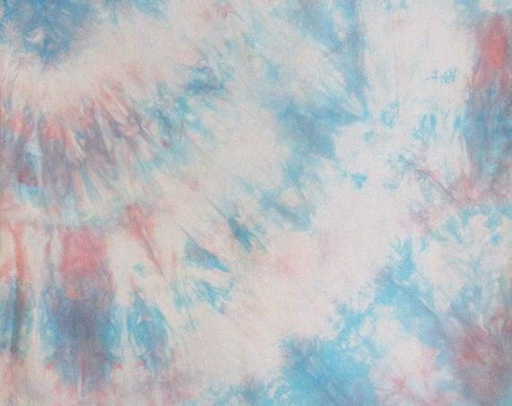 Oh Baby - Handpainted Silk Scarf - blue